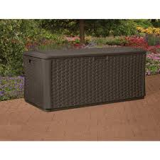 furniture suncast deck box ideas in dark grey with seat for home