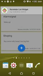 add reminder in android reminder list widget light theme add edit see your tasks on the