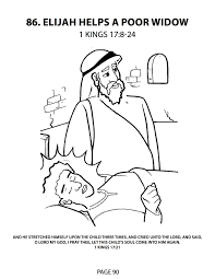 elijah and the widow coloring page virtren com