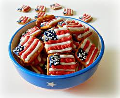 sugar swings serve some patriotic flag and graduation pretzel snacks