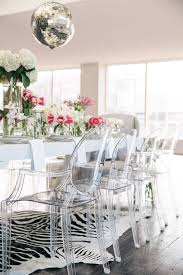 Acrylic Dining Room Chairs And An Animal Print Rug For A Glam - Animal print dining room chairs