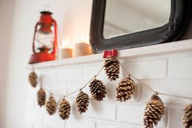 diy gold leaf pine cone garland the sweetest occasion