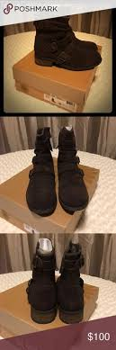 ugg womens finney boots black ugg knot demi sz 8w with box color demitasse