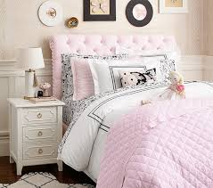 bed head board chesterfield upholstered bed headboard pottery barn kids