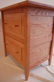 buy a custom made oak shaker style two drawer nightstand made to