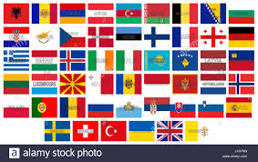 European Countries Flag Illustration Of All The Flags Of Europe With The Countries Names