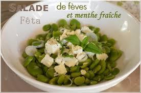 cuisiner feves salade de fèves fraîches fêta et menthe le de c est nathalie