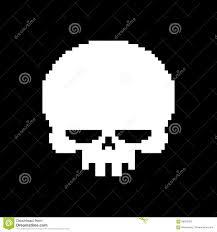 spooky pixel background skull pixel art head of skeleton pixelated isolated on white