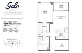the gale line 3 floor plan 1 bed 1 bath floors 4 12