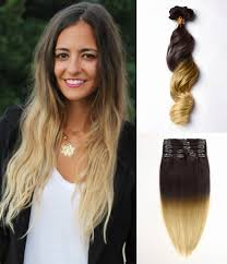 ombre hair extensions clip in hair extensions ombre hair remy human hair by fohair