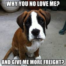 Why You No Love Me Meme - why you no love me and give me more freight sad puppy eyes