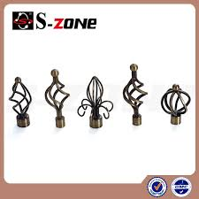 Decorative Curtain Finials Decorative Drapery Rattan Curtain Rod End Finials For Rod Window