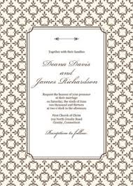 wedding invitations templates rectangle potrait brown floral