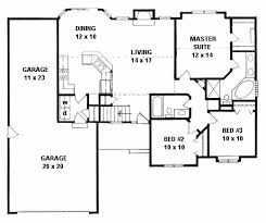 Floor Plans With 3 Car Garage Plan 1221 3 Bedroom Ranch W Tandem 3 Car Garage