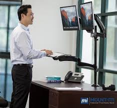 amazon com mount it sit stand desk mount workstation height