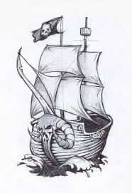 pirate ship drawing pirate ship by jafaime on deviantart