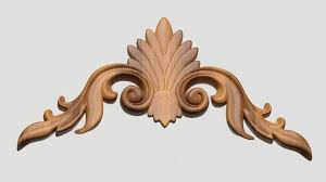 3d model wood carving decor cgtrader