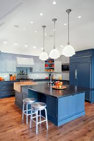 blue grey themes for two toned cabinets in kitchen on laminate kitchen blue grey themes for two toned cabinets in kitchen on laminate wood floor