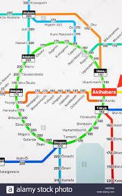 Usa Rail Network Map by Asia Japan Tokyo Train Map Stock Photos U0026 Asia Japan Tokyo Train