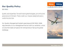 Iso 9001 Quality Policy Statement Exle by