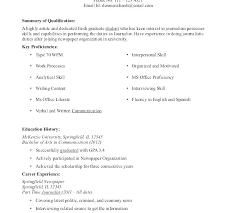 journalism resume template with personal summary statement exles graduate student resume templates