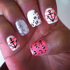 cheetah anchor nails nail art pinterest anchor nails