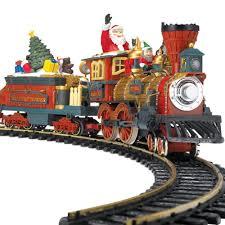 the animated christmas train set hammacher schlemmer