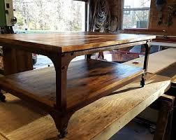 Rolling Coffee Table Rolling Coffee Table Etsy
