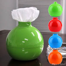 creative round ball shape tissue box paper roll hoder home bedroom