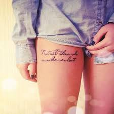 Quote Thigh - 20 thigh tattoos tattoos beautiful