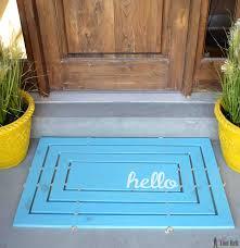 Doormat Leave Wooden Door Mat Her Tool Belt