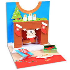 pop up christmas cards santa dog pop up christmas card greeting card by up with paper
