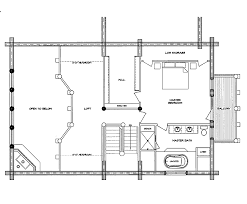 mountaineer log home floor plan main second building plans