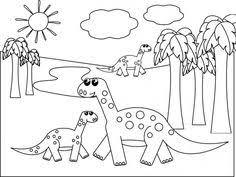 dinosaur coloring cut