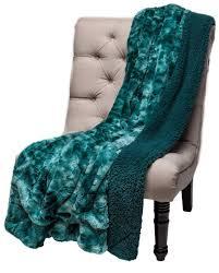 Leopard Print Faux Fur Throw Chanasya Super Soft Fuzzy Fur Warm Teal Blue Sherpa Throw Blanket