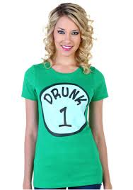 womens st patricks day drunk 1 t shirt walmart com