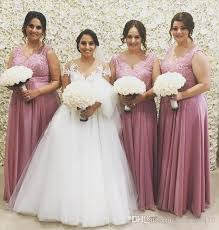 dusty bridesmaid dress 2017 dusty pink bridesmaid dresses v neck lace appliques beaded