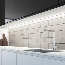 cool white lights sensio arrow 200mm sls led under cabinet strip light cool