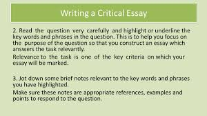 Examples Of Critical Essays National 5 Critical Essay Revision Review Understanding The