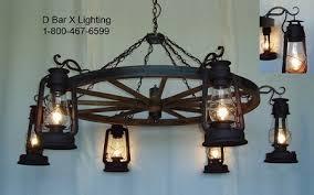 Wagon Wheel Lighting Fixtures Ww036 Rustic Wagon Wheel Chandelier Light Fixture With Lantern