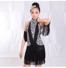 boys children sequined tassel transparent shirt and pants latin