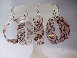 plastic bottle earrings recycled bottle earrings jewelry diy recycled