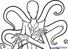 how to draw slenderman slender man step by step characters pop
