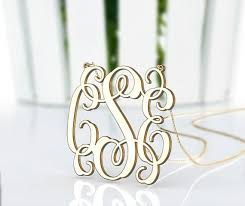 Gold Plated Monogram Necklace 200 Best Monogram Silver Necklace Images On Pinterest Gold