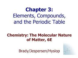Online Periodic Table by Chapter 3 Elements Compounds And The Periodic Table Ppt Video