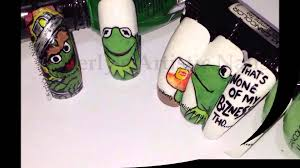 that u0027s none of my business thou kermit the frog inspired nail
