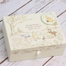 baptism memory box disney classic pooh heritage keepsake box the gift experience