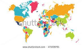 america in world map world map europe asia america stock illustration 471039794