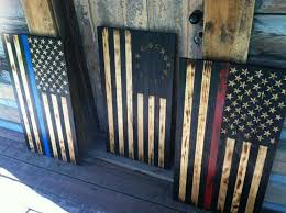 Iron On American Flag Burnt Wood American Flags Blue Line Defender The Patriot And Red
