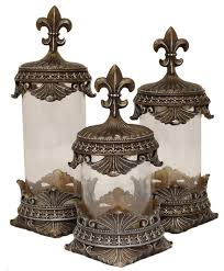 fleur de lis canisters for the kitchen designs baroque bronze fleur de lis decorative glass